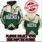Milwaukee Bucks Basketball Team Sport Hoodie With Zipper