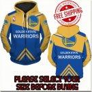 Golden State Warriors Basketball Team Sport Hoodie With Zipper