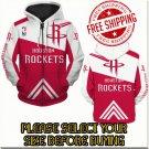 Houston Rockets Basketball Team Sport Hoodie With Zipper