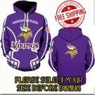 Minnesota Viking Football Team Sport Hoodie