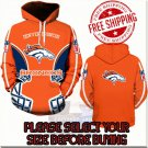 Denver Broncos Football Team Sport Hoodie