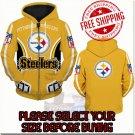 Pittsburgh Steelers Football Team Sport Hoodie With Zipper
