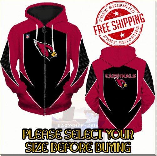 Arizona Cardinals SE Football Team Sport Hoodie With Zipper