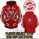 San Francisco 49ers Football Team Sport Hoodie With Zipper