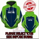Seattle Seahawks Football Team Sport Hoodie With Zipper