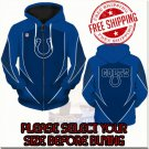 Indianapolis Colts SE Football Team Sport Hoodie With Zipper