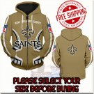New Orleans Saints Football Team Sport Hoodie With Zipper