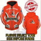 Cleveland Browns Football Team Sport Hoodie With Zipper