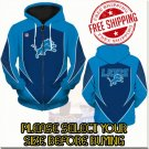 Detroit Lions SE Football Team Sport Hoodie With Zipper