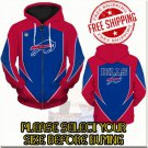 Buffalo Bills SE Football Team Sport Hoodie With Zipper