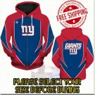 New York Giants SE Football Team Sport Hoodie With Zipper