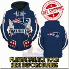 New England Patriots Football Team Sport Hoodie With Zipper