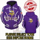 Minnesota Viking Football Team Sport Hoodie With Zipper