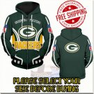 Green Bay Packer Football Team Sport Hoodie With Zipper