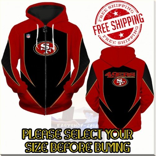San Francisco 49ers SE Football Team Sport Hoodie With Zipper