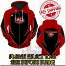 San Francisco 49ers SE Football Team Sport Hoodie With Zipper
