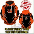 Cincinnati Bengals SE Football Team Sport Hoodie With Zipper