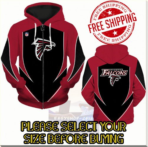 Atlanta Falcons SE Football Team Sport Hoodie With Zipper