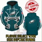 Philadelphia Eagles Football Team Sport Hoodie With Zipper