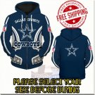 Dallas Cowboys Football Team Sport Hoodie With Zipper