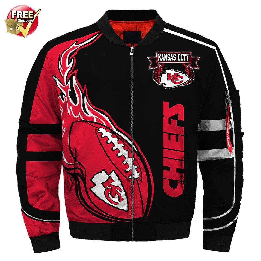 New-A  Kansas City Chiefs Football Team Sport Jacket  Unisex