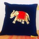 Handicraft Handmade Zari Elephant Design Cushion Cover Home Decor Christmas Gift