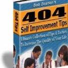 404 Self Improvement Tips