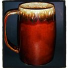 Brown Dipped Beer Stein or Coffee Glazed Mug 1970's