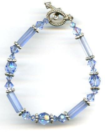 Lt. Sapphire Crystal Bracelet