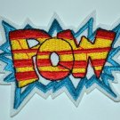 """Groovy POW Splash Shaped Embroidered Iron on Comic Patch Applique 2.5"""""""