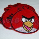 Red Mean Old Angry Bird Embroidered Iron on Patch Applique