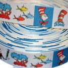 "Cats wearing Hat Cartoon Inspired 1"" Grosgrain Hairbow Ribbon"
