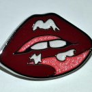 "Coach Enamel Decorative Pin - Red Lips 1.2"" Kisses"