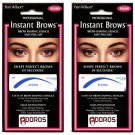 (2-Pack) FRAN WILSON Instant Brows Brow Shaping Stencil - Round