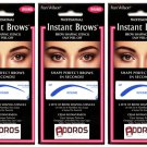 (3-Pack)  FRAN WILSON Instant Brows Brow Shaping Stencil - Round