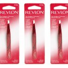 (3-PACK) Revlon The Designer Collection Slanted Tweezers 15104