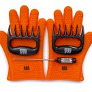 Heat-Resistant Gloves, Meat Claws, Instant-Read Thermometer Gift Set