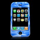 Blue & White Camouflage Silicone Skin Case for the Apple iPhone