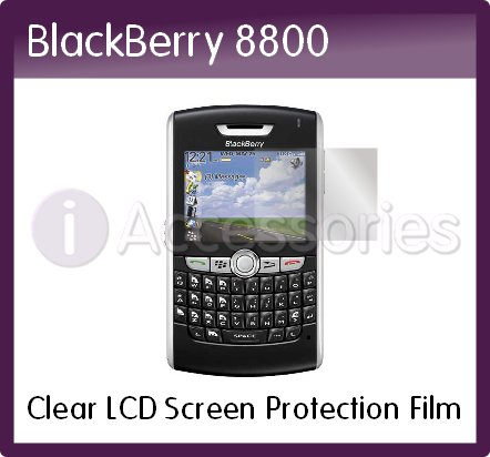 Clear LCD Screen Protection Film for the RIM BlackBerry 8800