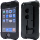 Opaque Black Silicone Skin Case with Integrated Earphone Cord Organizer for the Apple iPhone 4GB/8GB