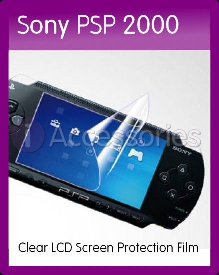 Clear LCD Screen Protection Film for the Sony PSP 2000