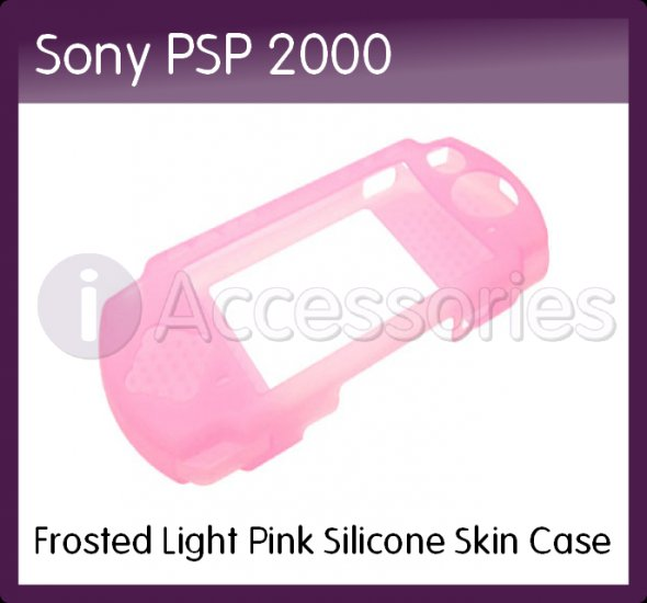 Frosted Light Pink Silicone Skin Case for the Sony PSP 2000