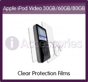 Clear Protection Films Kit for Apple iPod Video 30GB/60GB/80GB