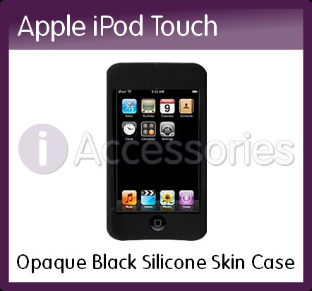 Opaque Black Silicone Skin Case for the Apple iPod Touch/iTouch