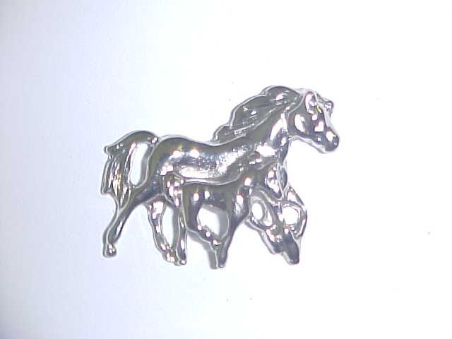 Brooch - Mare and Foal