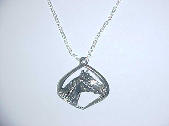 Necklace - Horse in diamond