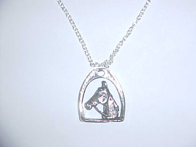 Necklace - Horse in stirrup