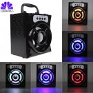MS 132BT Mini Portable Wireless Bluetooth Speaker Support FM Radio LED Shin