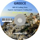 Greece Exports and Imports Trading | Bill of lading data Disk