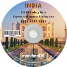 India Exports and Imports Trading | Bill of lading data Disk